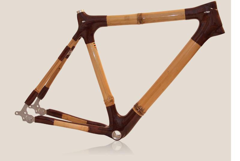 Bamboe-frames op maat Bamboefietsen